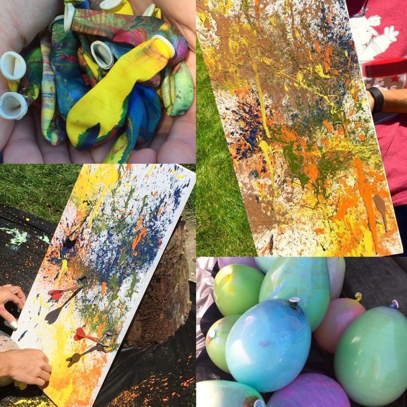 Balloon Dart Painting