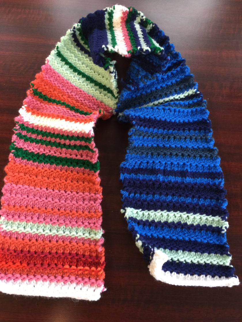 Knitted Temperature Scarf Completed Three Cats And A Girl